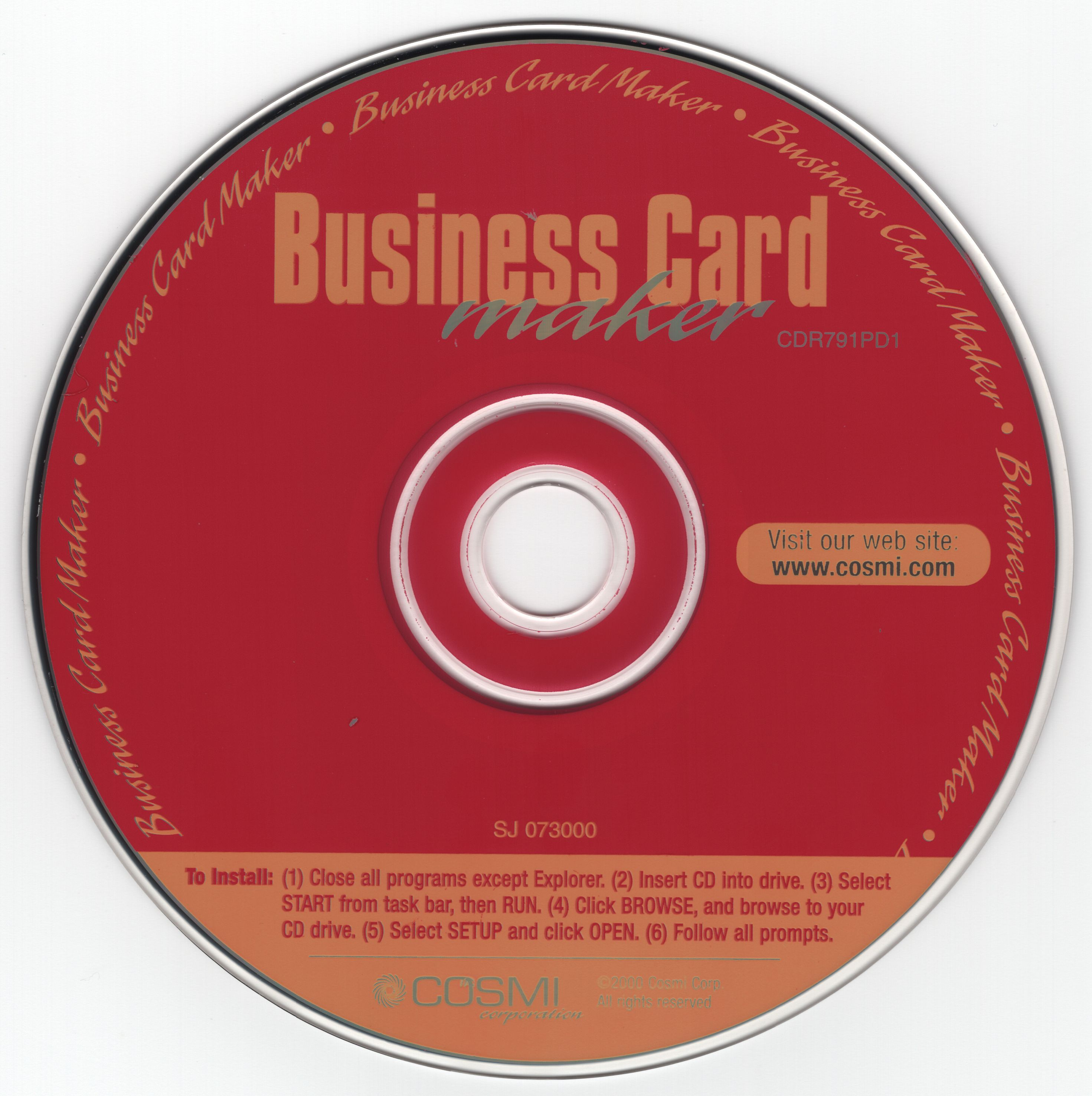 Swift Business Card Maker (Version 6.27) (CDR791PD1) (Cosmi Corporation) (2000)