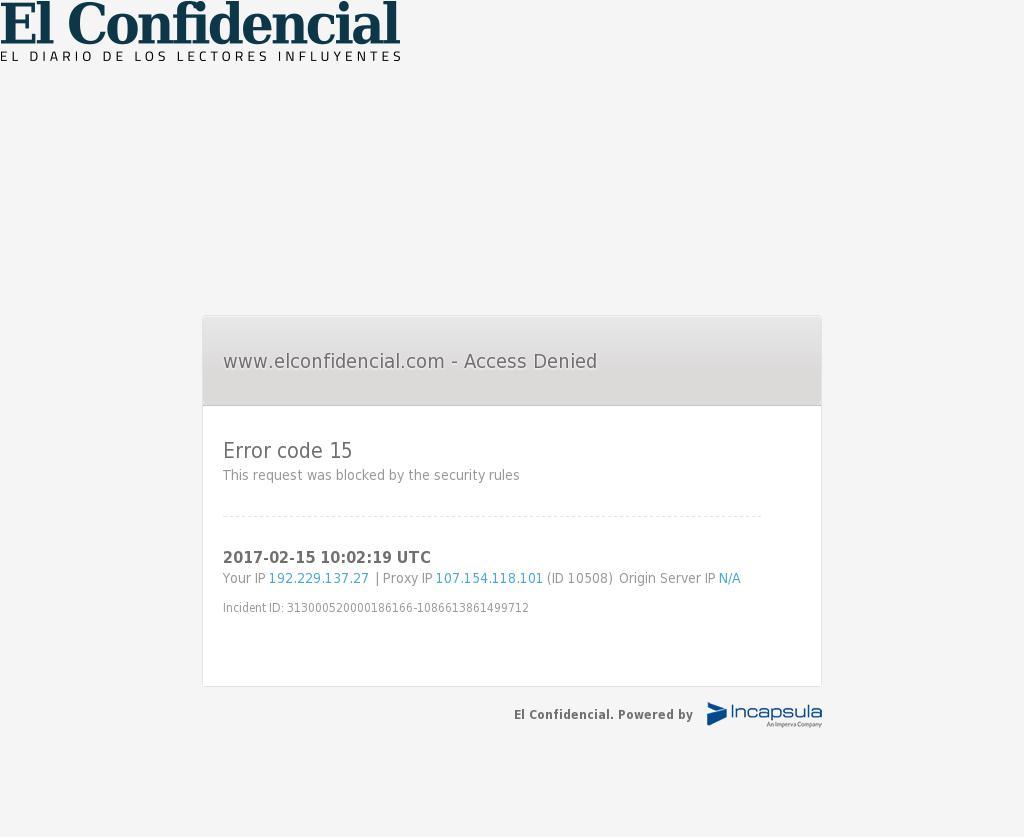 El Confidencial at Wednesday Feb. 15, 2017, 10:02 a.m. UTC