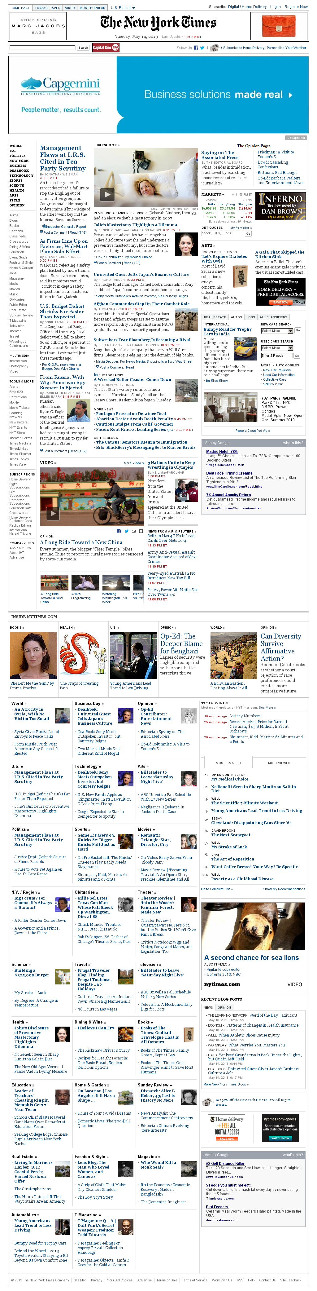 The New York Times at Wednesday May 15, 2013, 4:17 a.m. UTC