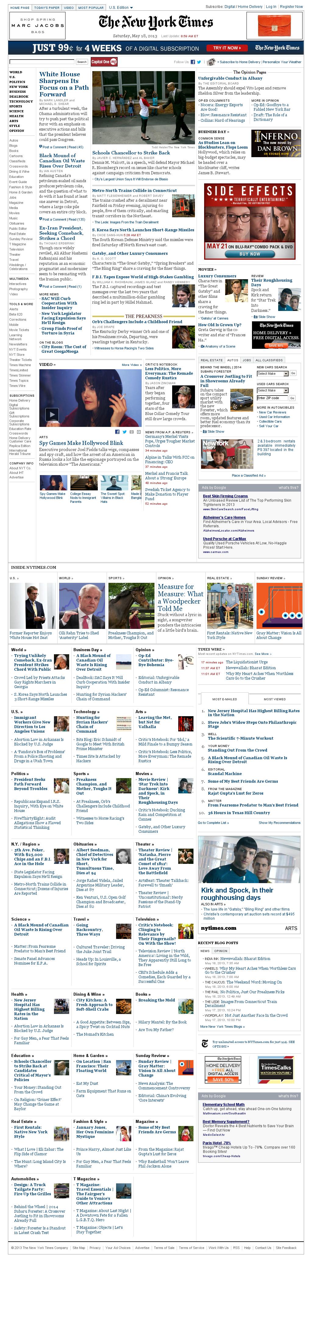 The New York Times at Saturday May 18, 2013, 1:18 p.m. UTC