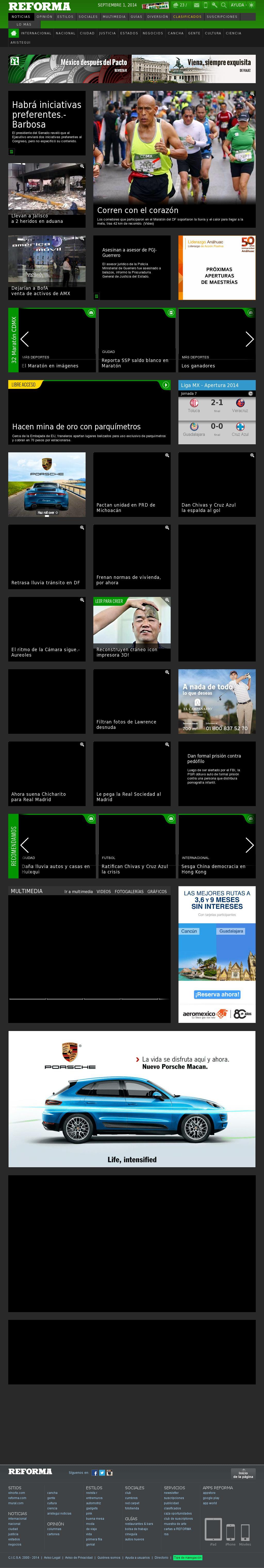 Reforma.com at Monday Sept. 1, 2014, 8:14 a.m. UTC