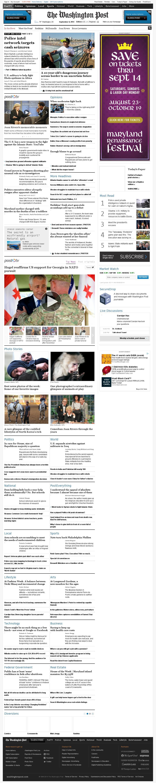 The Washington Post at Monday Sept. 8, 2014, 6:18 a.m. UTC