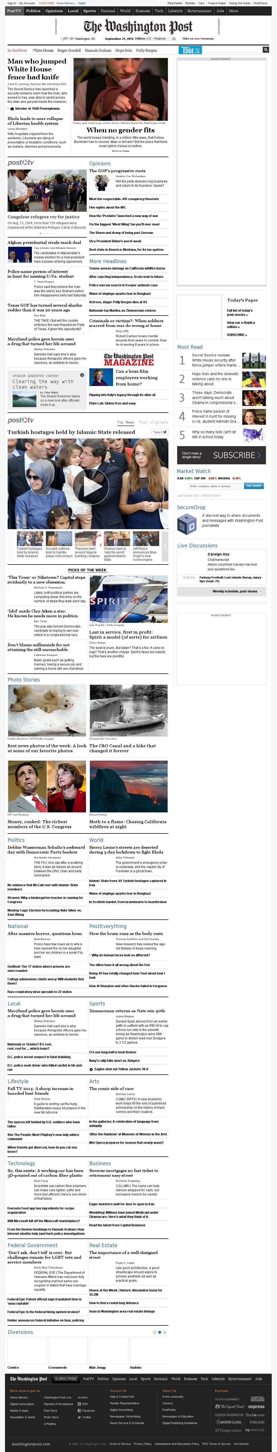 The Washington Post at Sunday Sept. 21, 2014, 7:20 a.m. UTC