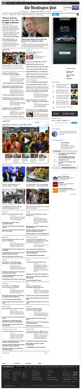 The Washington Post at Wednesday Sept. 24, 2014, 8:18 p.m. UTC