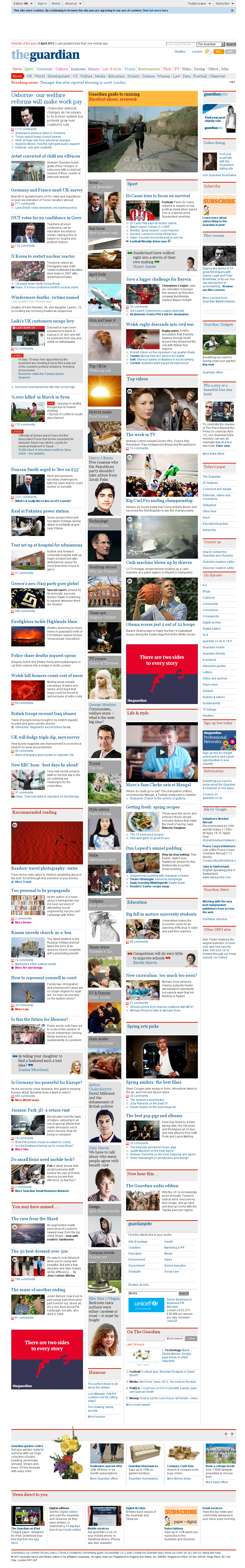 The Guardian at Tuesday April 2, 2013, 12:09 p.m. UTC