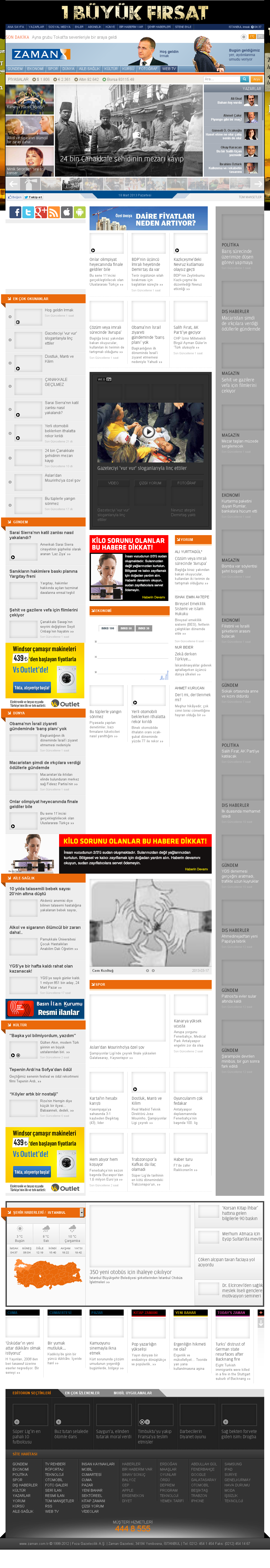 Zaman Online at Monday March 18, 2013, 2:32 a.m. UTC