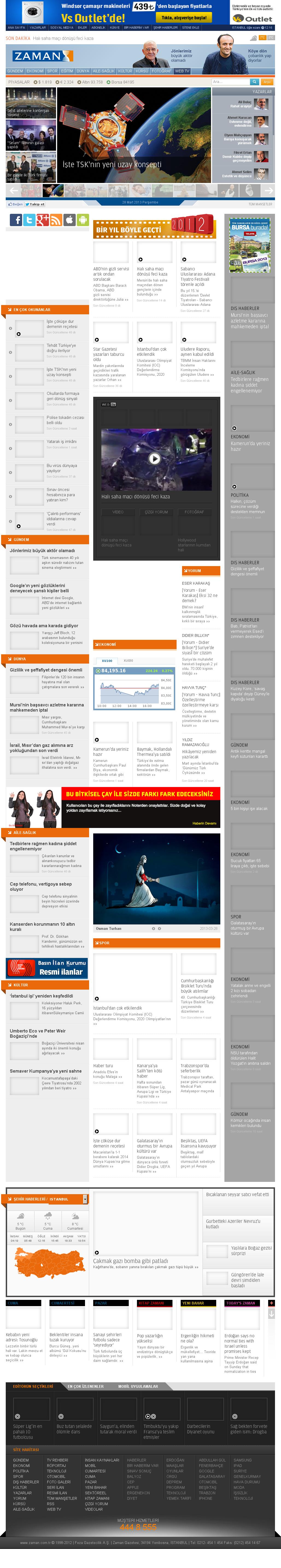 Zaman Online at Thursday March 28, 2013, 4:26 a.m. UTC