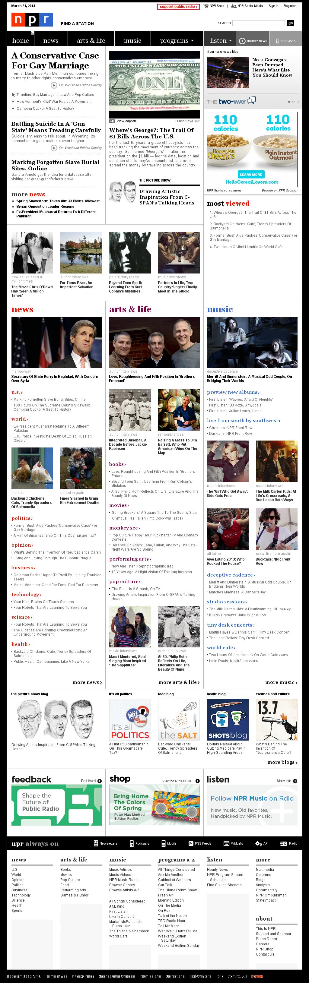 NPR at Sunday March 24, 2013, 9:31 p.m. UTC