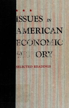 Cover of: Issues in American economic history | Gerald D. Nash