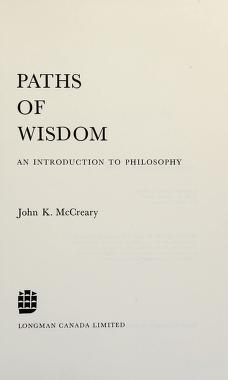 Cover of: Paths of wisdom | John K. McCreary